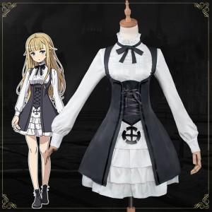 プリンセス・プリンシパル 制服 白+黒 コスプレ衣装