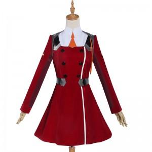 ダーリン・イン・ザ・フランキス DARLING in the FRANXX ゼロツー コスプレ衣装 制服 赤色