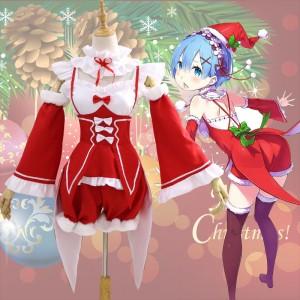 Re:ゼロから始める異世界生活 レム ラム クリスマス サンタ衣装 コスチューム