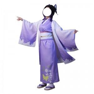 鬼滅の刃 胡蝶忍 胡蝶しのぶ  着物 和服 コスプレ衣装 紫