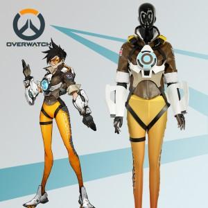 Overwatch オーバーウォッチ  OW トレーサー コスプレ衣装 レナ・オクストン 冒険家 コスチューム