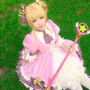 カードキャプターさくら 木之本桜 20周年記念日 ピンク+シロ 洋服 コスプレ衣装
