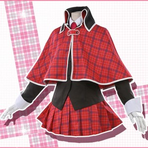しゅごキャラ!  藤咲なでし ましろ りま クイーン 制服 赤色 コスチューム