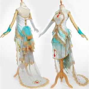 VOCALOIDボーカロイド 青鸾言和 チャイナドレス セクシーコスプレ衣装