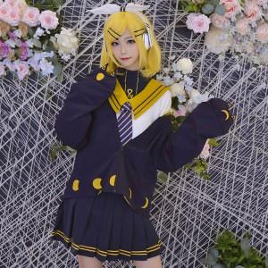 vocaloid 鏡音リン 学院風 コスプレ衣装 セット 洋服