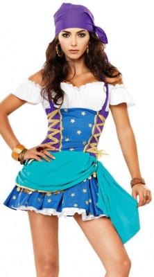 ブルーとパープル 海賊風 セクシーコスチューム衣装