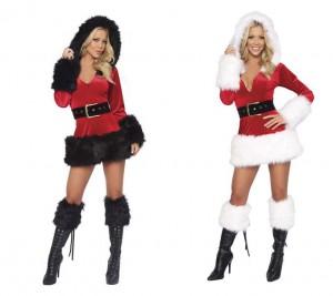長袖サンタ衣装 クリスマスコスチューム ベルト付