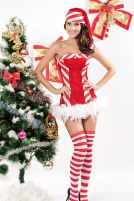 セクシーベアトップサンタコスチューム クリスマス コスプレ セクシーコスチューム