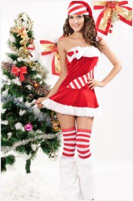ベアトップサンタコスチューム クリスマス サンタドレス