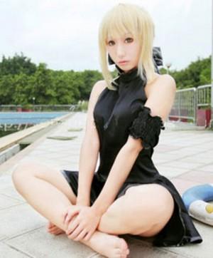Fate/Zero セイバー(Saber) 水着風 ジャンパースカート コスプレ衣装(フリーサイズ)