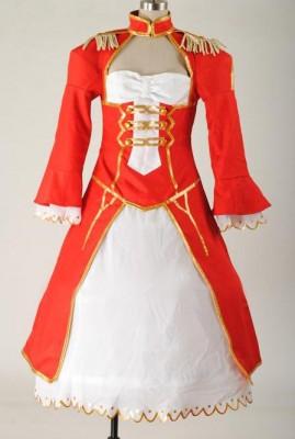 Fate/EXTRA セイバー Saber 赤ドレス コスプレ衣装