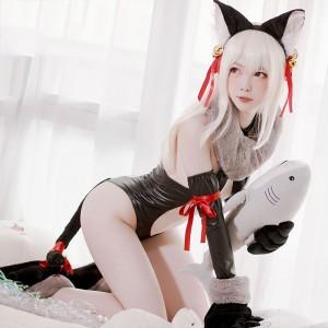 Fate/kaleid liner プリズマイリヤ 獣っ娘姿のイリヤ コスプレ衣装 猫耳カチューシャ付