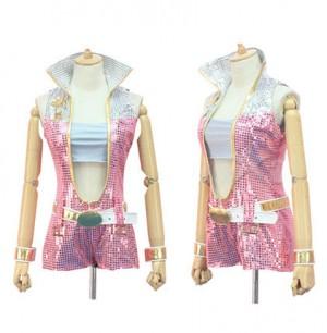 THE IDOLM@STER2 アイドルマスター★菊地真  ピンクダイヤモンド765★コスプレ衣装★コスチューム 高品質