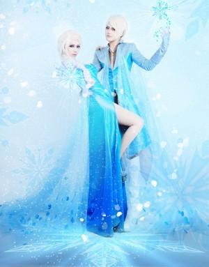 ディズニー アナと雪の女王 FROZEN アナの姉 エルサ Elsa ドレス 男性版 コスプレ衣装