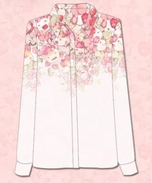 鬼灯の冷徹 金魚草 白澤(はくたく) 自製シフォンシャツ 日常服 衣装 コス プレ周辺