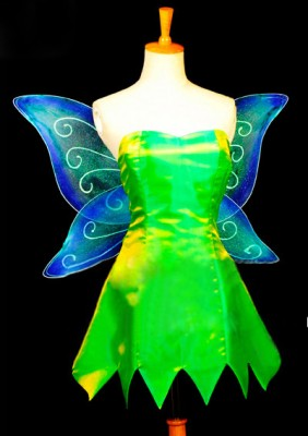 ディズニー ピーターパン ティンカー・ベル ティンク 妖精の翼 コスプレ衣装 コスチューム