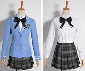 学園K -Wonderful School Days- ネコ 木野花沙耶 『超』葦学園制服 白銀部女子 コスプレ衣装