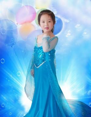 ディズニー Disney キャラコスプレ衣装 コスプレ アナと雪の女王 ドレス アナ子供用 キッズ 女の子 ワンピース プリンセス  子供服 Elsa エルサ コスチューム