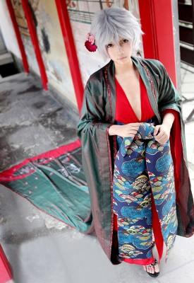 銀魂 坂田銀時 花魁和服 おいらん コスプレ衣装 華やか和服 コスチューム