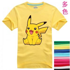 ポケットモンスター ピカチュウTシャツ カップル半袖Tシャツ