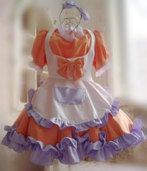 新品 メイド服 コスチューム コスプレ衣装 可愛い蝶結び メイドドレス 4色選択