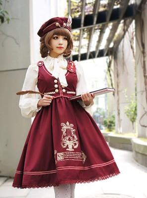最新品・学院風制服 ベストワンピース 萌えコスプレ衣装 Lolita JSK 高品質 豪華
