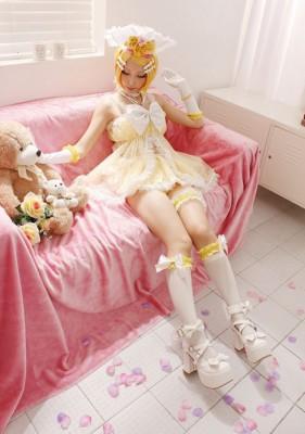 VOCALOID ボーカロイド Rin 鏡音リン シナモンロール コスプレ衣装 コスチューム