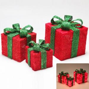 クリスマスツリー飾り 赤いギフトボックスオーナメント パーティー グッズ デコレーション 装飾