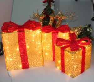 クリスマスツリー飾り 光りのギフトボックスオーナメント パーティー グッズ デコレーション 装飾