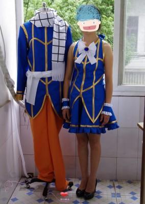 コスプレ衣装 Fairy Tail  ナツ ・ドラグニル/ ルーシィ  カップル風 コスプレ衣装