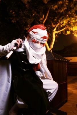 銀魂  夜兎神威風(かむい)コスプレ衣装 コスチューム マント+包帯