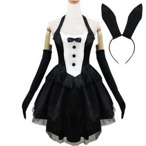 newメイド (リボン付)色:黒衣装   制服 コスチューム コスプレ衣装
