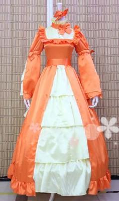 コスプレ黒執事 エリザベス  橙色 のれいふく コスプレ衣装