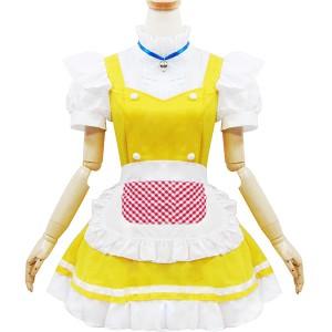 イエローメイド服 スチューム衣装 メイド AKBアキバ 女子高生 セーラー服