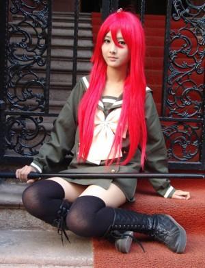 灼眼のシャナ風 シャナ風の制服02 冬 浅緑 コスプレ衣装