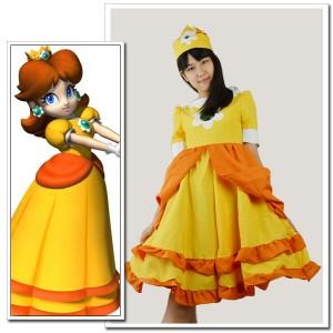 コスプレ衣装販売スーパーマリオはデイジー姫衣装
