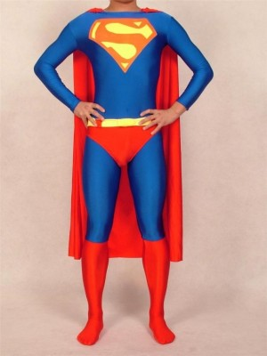 ライクラ スパンデックス スーパーマンコスチューム 全身 タイツ衣装