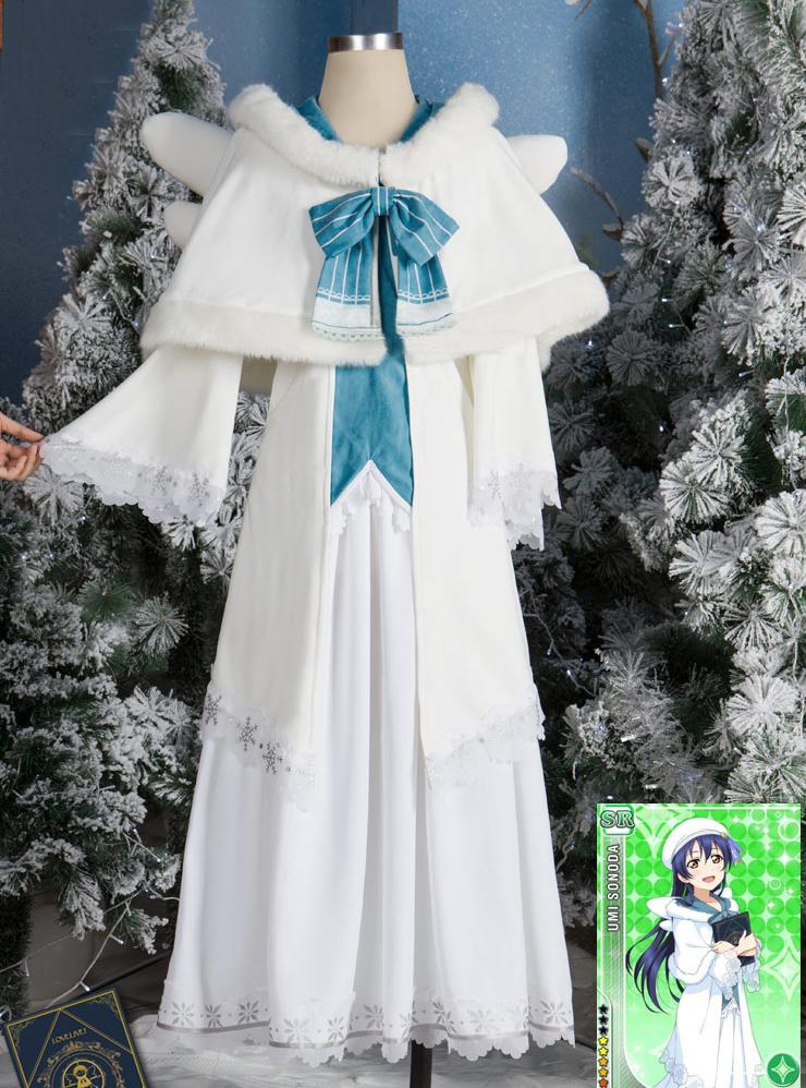 園田海未クリスマス詩唱班編聖歌隊コス