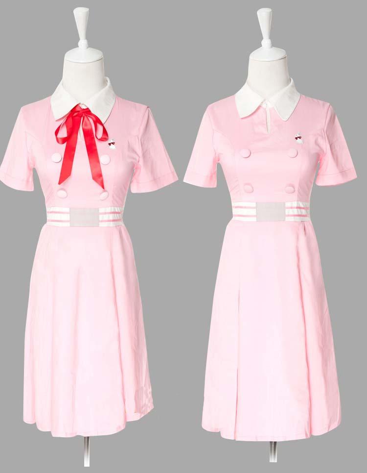 北白川たまこ ピンク夏季学校制服