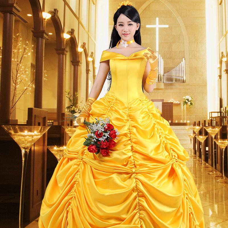 ベル 美しいドレス コスプレ