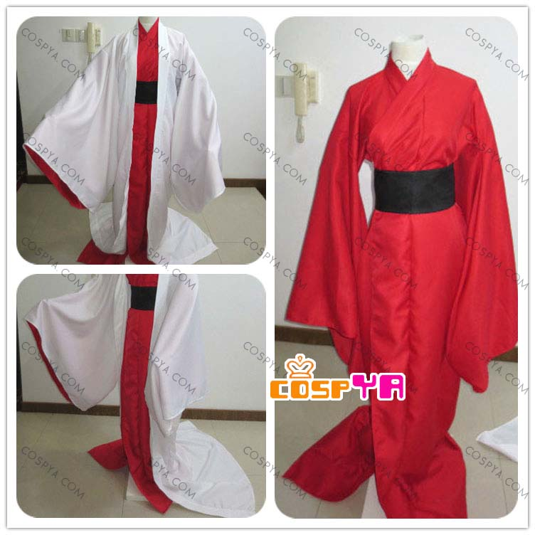 斑(まだら) 擬人 赤白和服