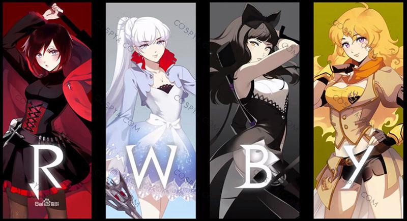 RWBY 登場する少女4人
