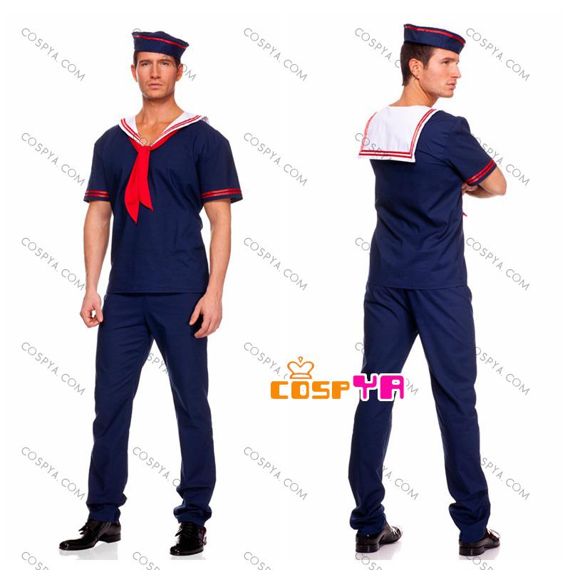ハロウィーン 衣装 男性 白 海軍セーラー 軍服水兵服 ハロウ ...